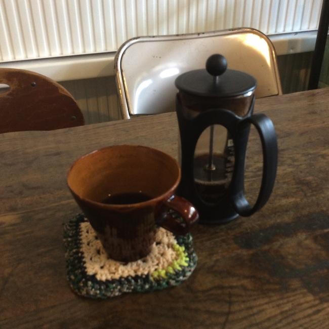 フレンチプレスで入れる、オリジナルコーヒー