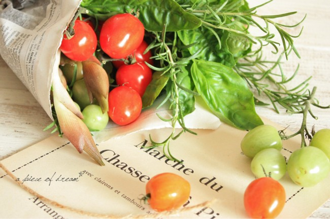 たくさん野菜がとれた日は「野菜のブーケ」をプレゼントをしよう。