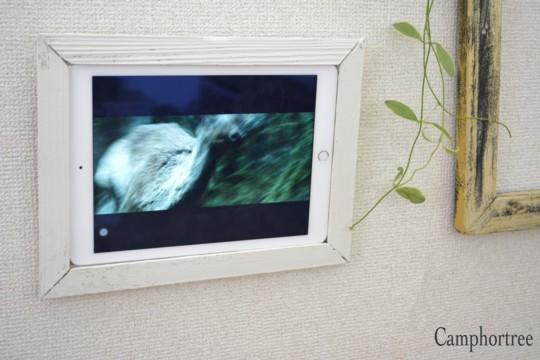 木っ端からiPad wall frame (捨てられない物からリメイク2)