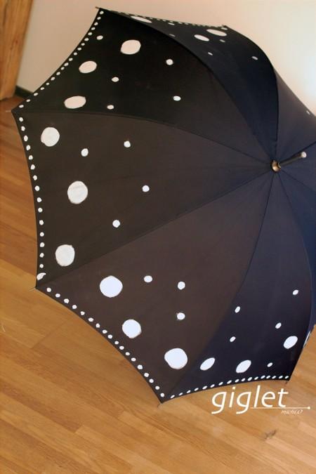 作業台便り:手書きペイントで世界でひとつだけの傘に変身