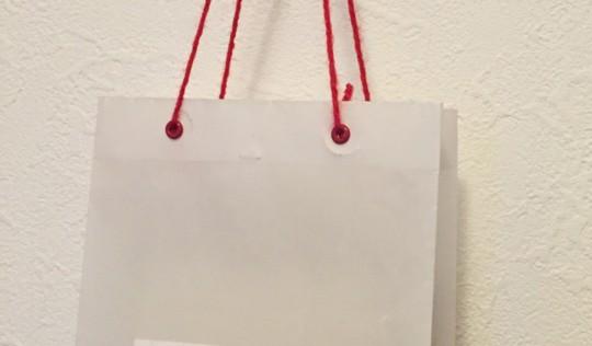 『週末DIY』 受け取った人が思わずにっこりしちゃうことまちがいなし♪小さなショッピングバッグを作ろう