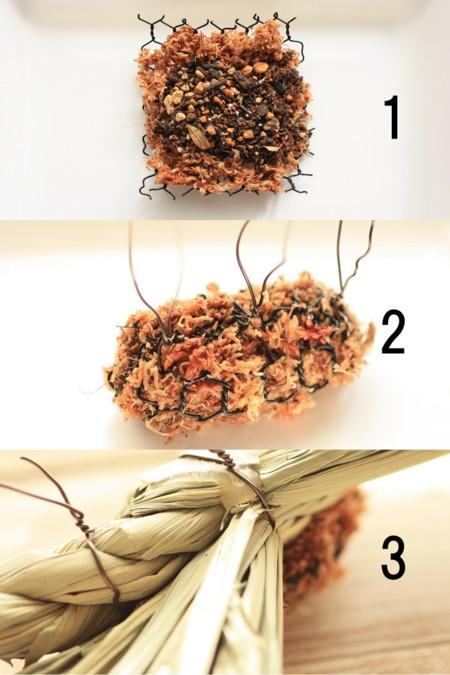 「しめ縄リース」と「門松」を多肉植物と100円ショップで手作りしてみませんか?作り方見てくださいね。