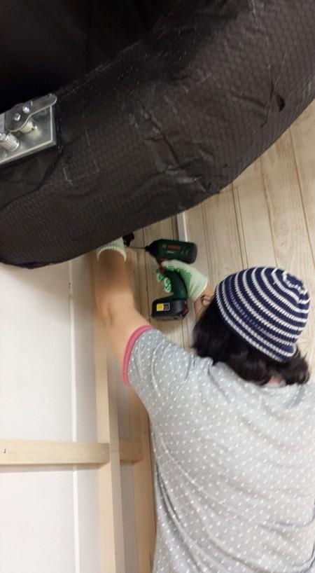 『ドイト×小屋女子』DIYルームができるまで、、壁板編
