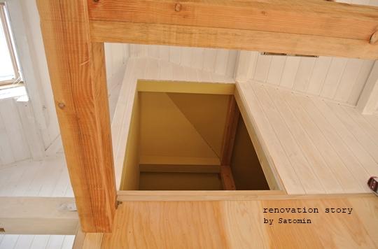 家族で楽しくセルフリノベーション♪④天井板張り完成と屋根裏のちっちゃな小屋作り♪Satomin
