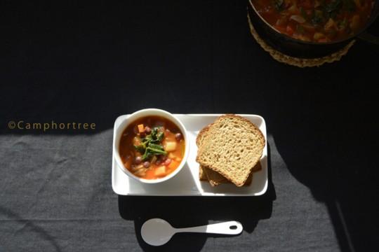 水曜日の手作りスープvol.11 小豆と残り野菜のミネストローネ