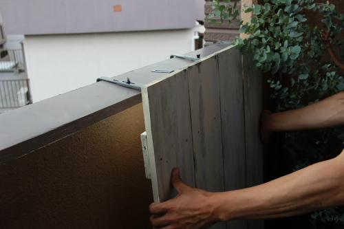 【ベランダガーデニングのすすめ 板を使って、生活感をなくす工夫♪】