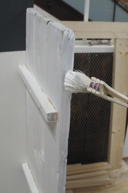 『ドイト×小屋女子』DIYルームができるまで、、おうち型の棚