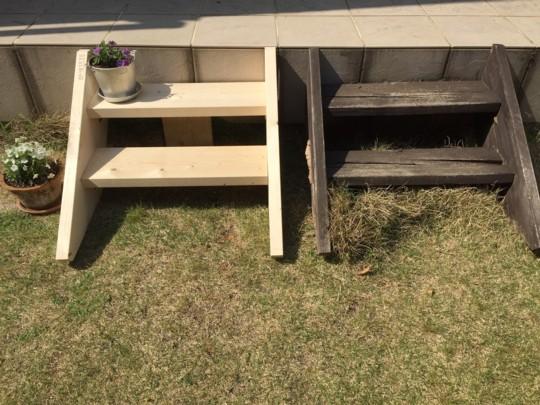 『週末DIY』 ステップ階段を作ってステンシルをしたら、お庭時間がもっと楽しくなったよ