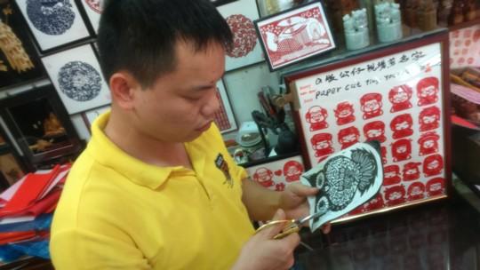 中華切り絵細工 ~シンガポールで旧正月~