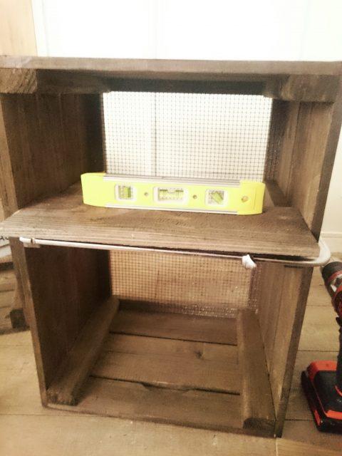 キャベツボックスを簡単手抜きリメイクで収納棚DIY♪