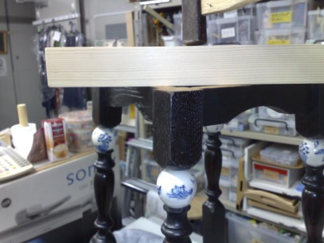 昭和の花台をちょっとchinoiserieテイストにリメイク