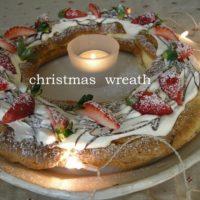 【クリスマスDIY】クリスマスのテーブルの主役はこれで決まり!シュー生地のリースを作ったよ