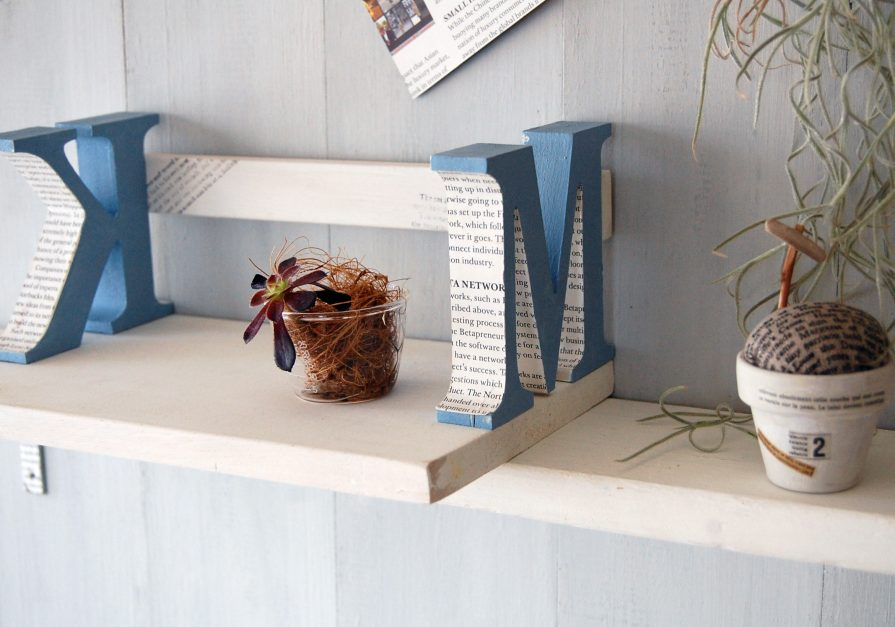 こんなものを作った:アルファベットの飾り棚